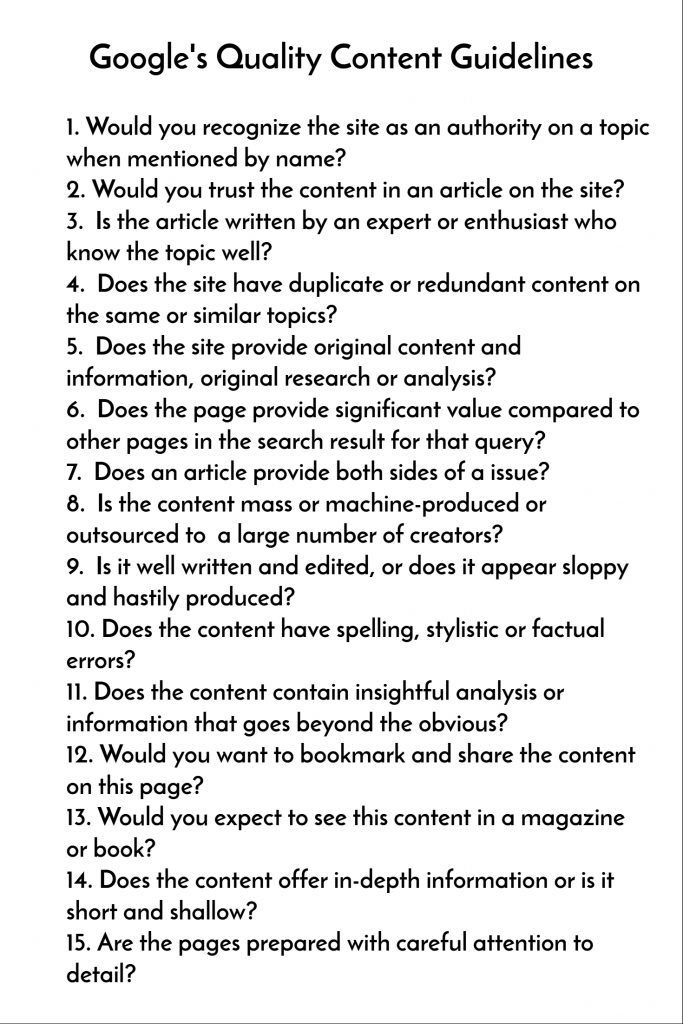 google content guidelines