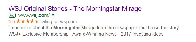 morningstar wsj